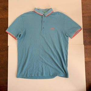 Boss Hugo Boss Light Blue Polo Shirt Mens Large L